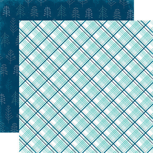 Echo Park Papers - Hello Winter - Arctic Plaid - 2 Sheets