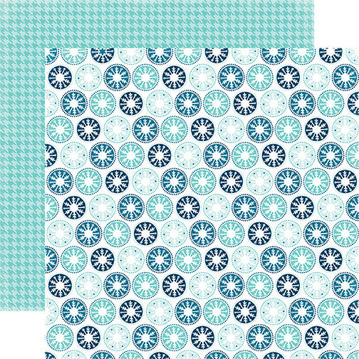 Echo Park Papers - Hello Winter - Icy Snowflakes - 2 Sheets
