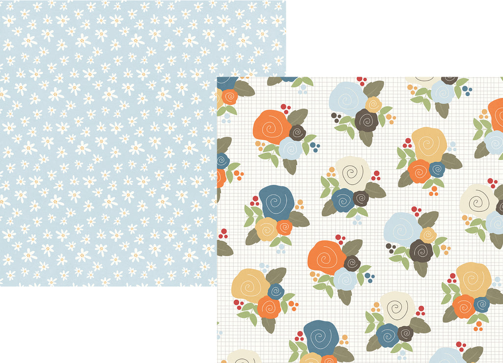Awesome Simple Stories Papers   Hello Fall   I Heart Fall   2 Sheets