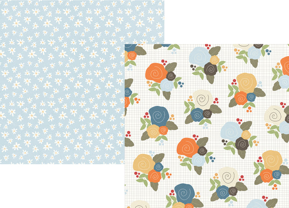 Simple Stories Papers - Hello Fall - I Heart Fall - 2 Sheets
