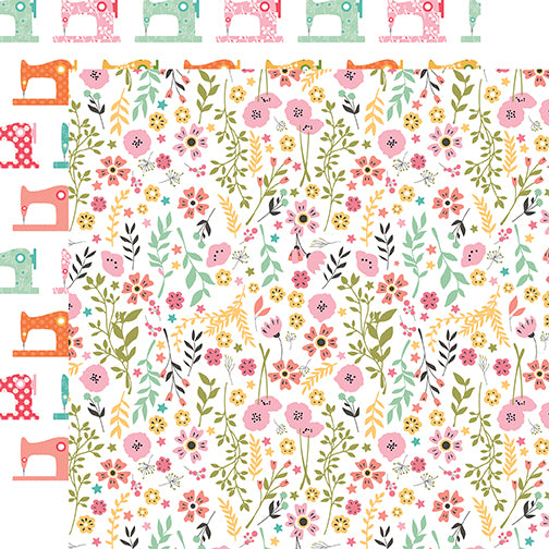 Echo Park Papers - I Heart Crafting - Pretty Flowers - 2 Sheets