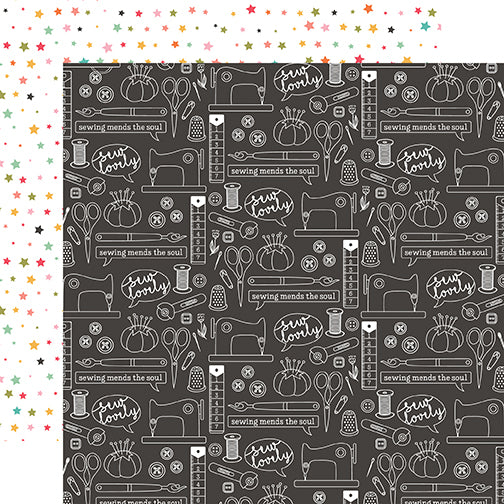 Echo Park Papers - I Heart Crafting - Sew Lovely - 2 Sheets