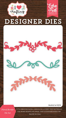 Echo Park Designer Dies - I Heart Crafting - Floral Border Die Set