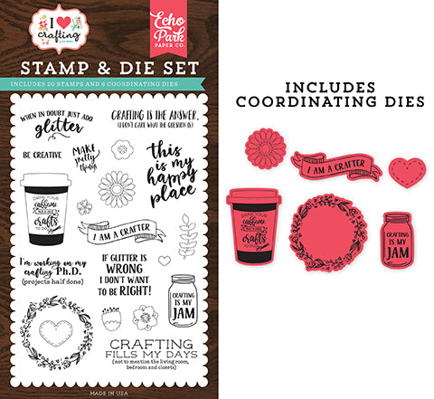 Echo Park Stamp and Die Set - I Heart Crafting - Just Add Glitter