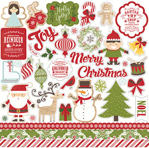 Echo Park 12x12 Cardstock Stickers - I Love Christmas - Elements