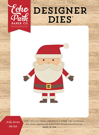 Echo Park Designer Dies - I Love Christmas - Jolly Santa - Die Set