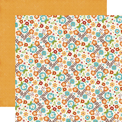 Echo Park Papers - I Love Family - Family Floral - 2 Sheets