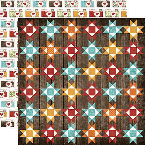 Echo Park Papers - I Love Family - Family Quilt - 2 Sheets