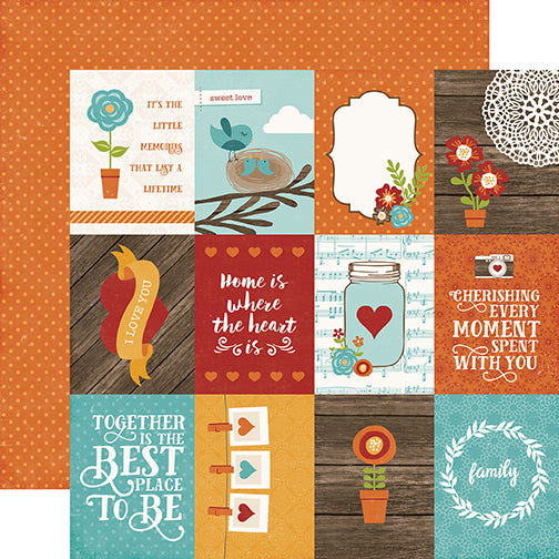 Echo Park Cut-Outs - I Love Family - 3x4 Journaling Cards