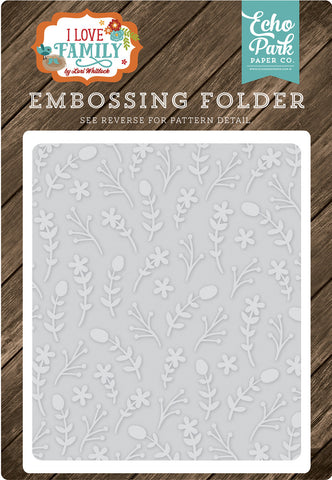Echo Park Embossing Folder - I Love Family - Floral Stem