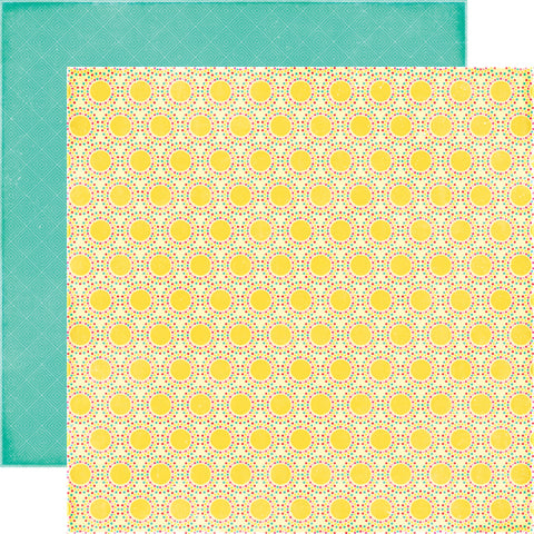 Echo Park Papers - I Love Sunshine - Sun Beams - 2 Sheets