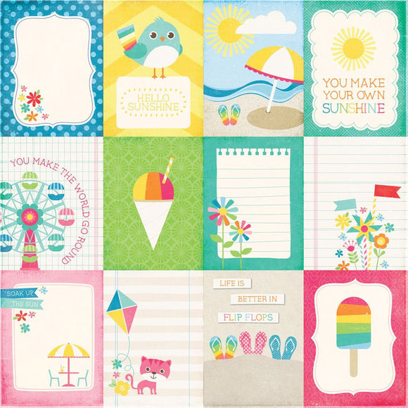 Echo Park Cut-Outs - I Love Sunshine - 3x4 Journaling Cards