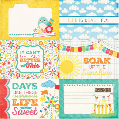 Echo Park Cut-Outs - I Love Sunshine - 4x6 Journaling Cards