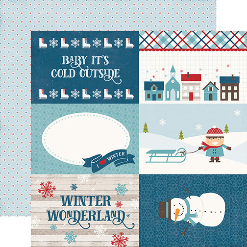 Echo Park Cut-Outs - I Love Winter - 4x6 Journaling Cards