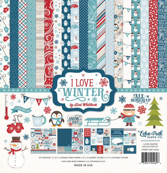 Echo Park Collection Kit - I Love Winter