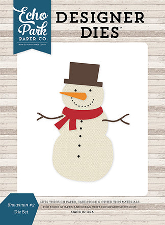 Echo Park Designer Dies - I Love Winter - Snowman #2 - Die Set