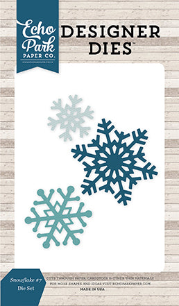 Echo Park Designer Dies - I Love Winter - Snowflakes #7 - Die Set