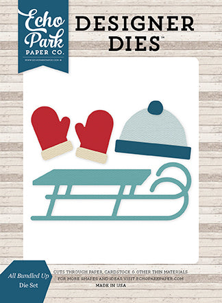 Echo Park Designer Dies - I Love Winter - All Bundled Up - Die Set