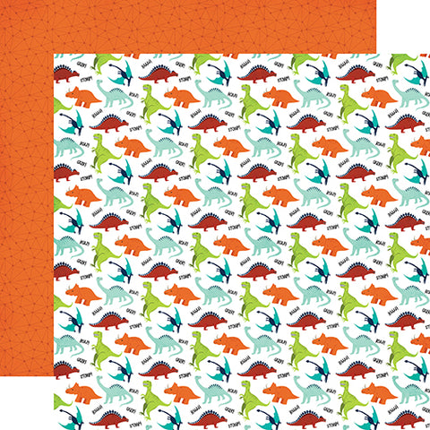 Echo Park Papers - Imagine That - Boy - Dino Friends - 2 Sheets