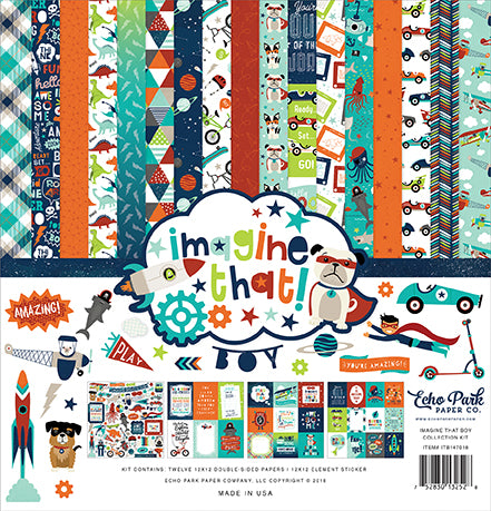 Echo Park Collection Kit - Imagine That - Boy