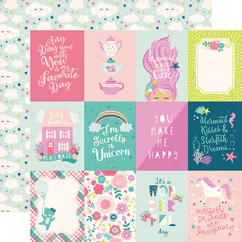 Echo Park Cut-Outs - Imagine That - Girl - 3x4 Journaling Cards