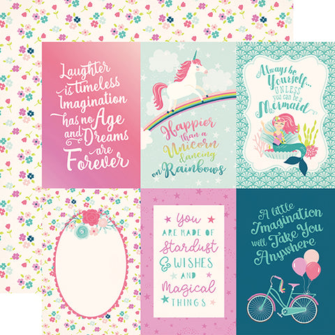 Echo Park Cut-Outs - Imagine That - Girl - 4x6 Journaling Cards
