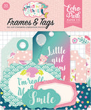 Echo Park Frames & Tags Die-Cuts - Imagine That - Girl