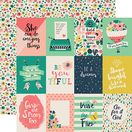 Echo Park Cut-Outs - Just Be You - 3x4 Journaling Cards