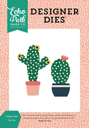 Echo Park Designer Dies - Just Be You - Cactus Pair - Die Set