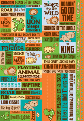 Reminisce Double Cardstock Stickers - Jungle Kitties