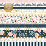 Echo Park Cut-Outs - Just Married - Border Strips - Foil