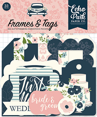 Echo Park Frames & Tags Die-Cuts - Just Married