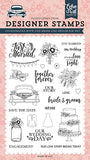 Echo Park Stamp and Die Set - Just Married - Bride & Groom