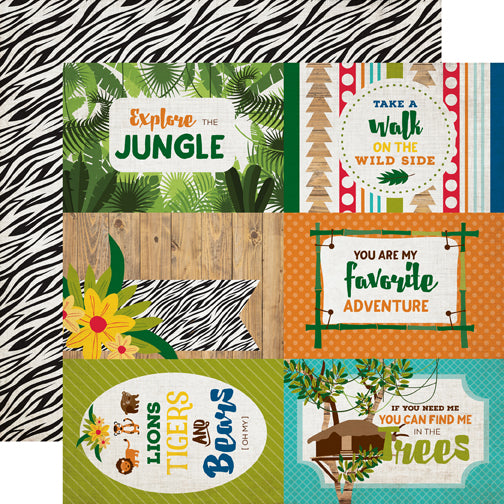 Echo Park Cut-Outs - Jungle Safari - 4x6 Journaling Cards