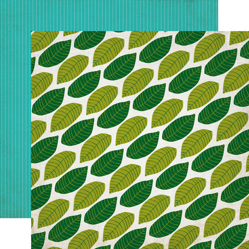 Echo Park Papers - Jungle Safari - Canopy Leaves - 2 Sheets