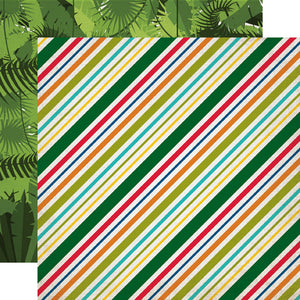 Echo Park Papers - Jungle Safari - Jungle Stripes - 2 Sheets