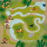 Echo Park Papers - Jungle Safari - Jungle Map - 2 Sheets