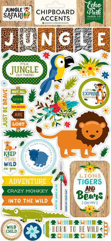 Echo Park Chipboard - Jungle Safari