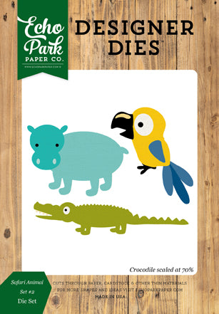 Echo Park Designer Dies - Jungle Safari - Safari Animals #2 Set