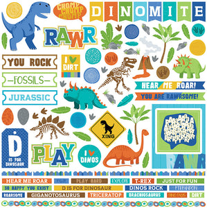 Photo Play 12x12 Cardstock Stickers - Jurassic - Elements