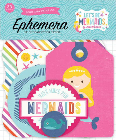 Echo Park Ephemera Die-Cuts - Let's Be Mermaids
