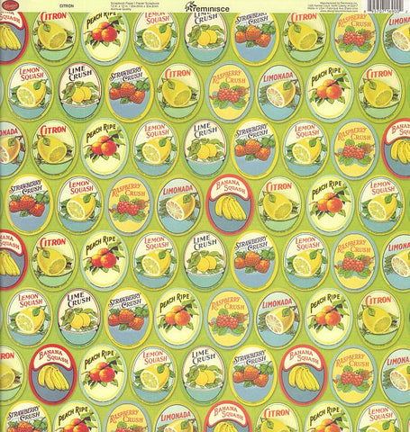 Reminisce Papers - Labels Classique - Citron - 2 Sheets