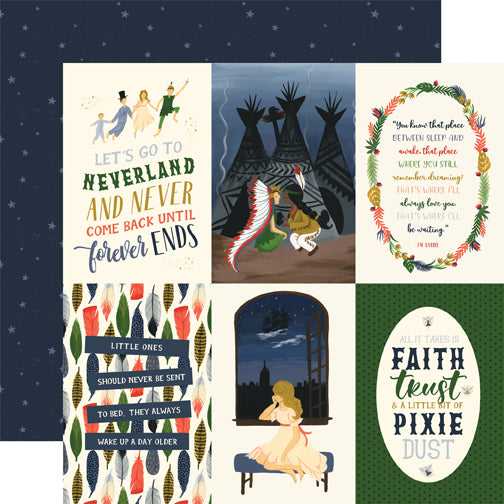 Echo Park Cut-Outs - Lost In Neverland - 4x6 Vertical Journaling Cards