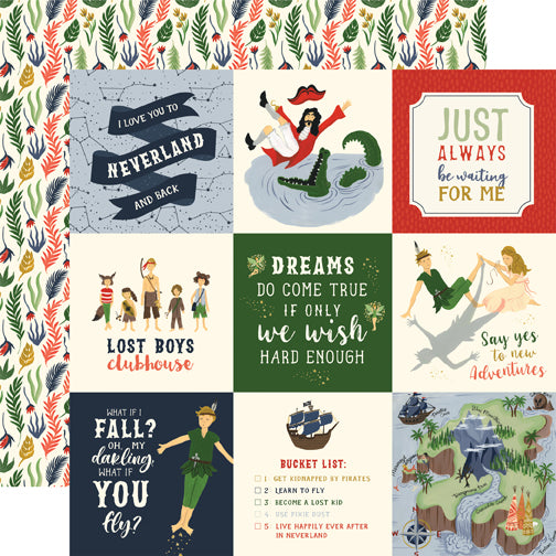 Echo Park Cut-Outs - Lost In Neverland - 4x4 Journaling Cards