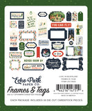 Echo Park Frames & Tags Die-Cuts - Lost In Neverland