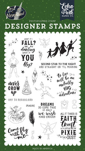 Echo Park Clear Stamp Set - Lost In Neverland - Never Grow Up