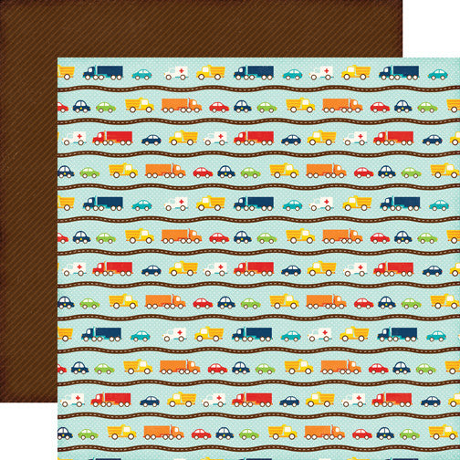 Echo Park Papers - Little Man - Cars - 2 Sheets