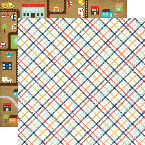 Echo Park Papers - Little Man - Plaid - 2 Sheets