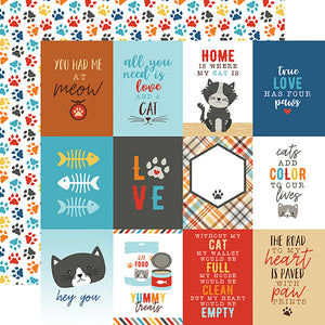 Echo Park Cut-Outs - I Love My Cat - 3x4 Journaling Cards
