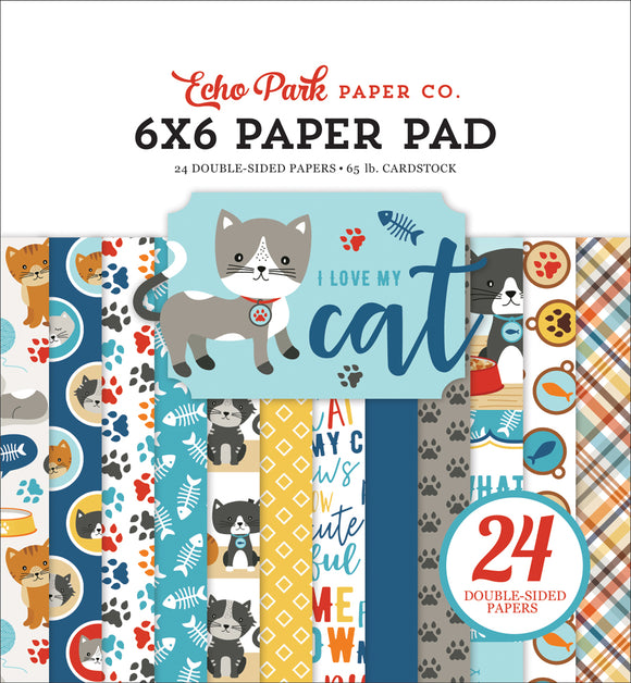 Echo Park 6x6 Pad - I Love My Cat